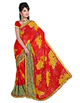 Fatkart Printed Multicolor Silk Designer Saree
