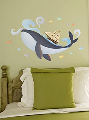 Ambiance Sticker Wandtattoo Whale, Boat And Fishes