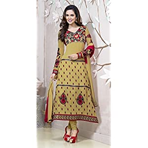 Brown Faux Georgette Esha Gupta Designer Anarkali Suit