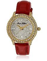 H Ph12988jsg/04A Red/Silver Analog Watch Paris Hilton
