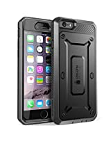 SUPCASE [Heavy Duty] Belt Clip Holster Apple iPhone 6 Plus Case 5.5 inch [Unicorn Beetle PRO Series] Full-body Rugged Hybrid Protective Cover with Built-in Screen Protector (Black/Black), Dual Layer + Impact Resistant Bumper [Not Fit iPhone 6 4.7 inch] By Supcase