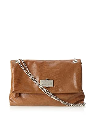 Pietro Alessandro Women's The Marluy Shoulder with Chain Strap (Chestnut)