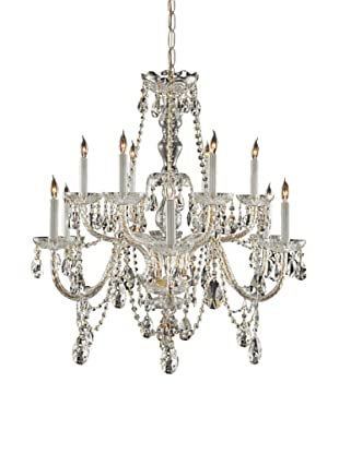 Gold Coast Lighting Greenspoint Chandelier, Polished Brass