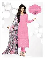VandV New Baby Pink Schiffli Dress Material