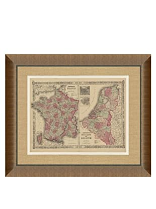 Johnson and Ward Antique (1860's) Map of France, Holland & Belgium, 28