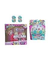 Bundle 4 Items: Shopkins Makeup Spot Playset, Shopkins S3 12 Pack And (2) Shopkins S3 Baskets