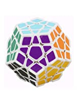 DaYan Megaminx with Corner Ridges - White Dodecahedron Magic Cube
