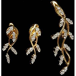 Exotic India Vegetative Pendant Earrings