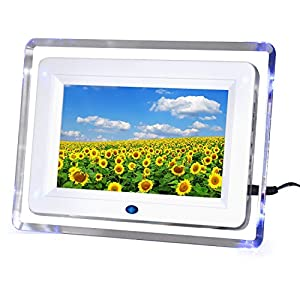 7 inch Digital Photo Frame with Blue Mood Light