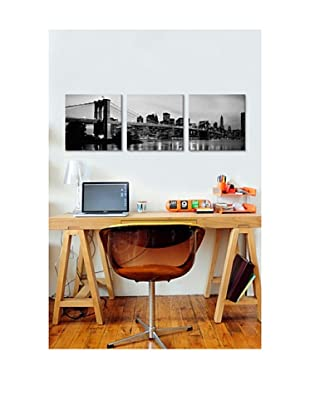 Brooklyn Bridge Panoramic Giclée Canvas Print Triptych