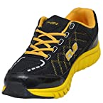 Columbus Men's Rainbow Black And Yellow Synthetic Running Shoes - Uk 10