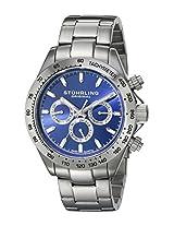 Stuhrling Original Octane Analog Blue Dial Men's Watch - 564.03