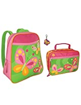 Stephen Joseph Butterfly Backpack and Lunch Box with Zipper Pull - Cute Girls Backpacks