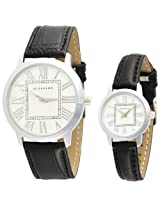 Giordano Analog White Dial Pair Watch - P6887