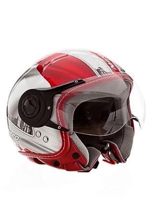 Nitro Casco X548 Monaco (Rojo / Plata / Blanco)