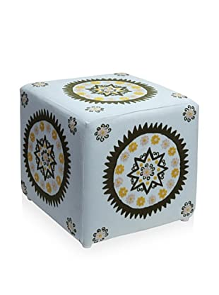 Better Living Collection Medallion Square Ottoman (Cloud)