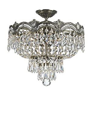 Gold Coast Lighting Shelby Semi Flush Chandelier, Historic Brass
