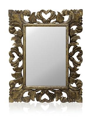 Cooper Classics Ellen Mirror, Gold Crackle