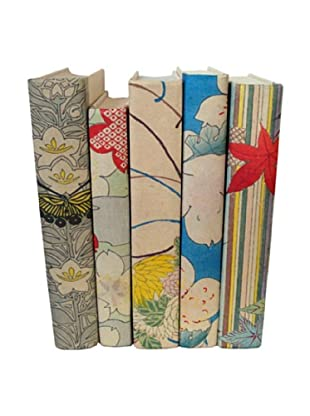 By Its Cover Hand-Rebound Set of 5 Floral Decorative Books, II