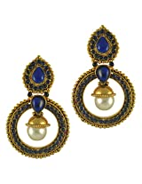 Ethnic Indian Bollywood Jewelry Set Traditional Fashion Imitation EarringsCHEA0214BL
