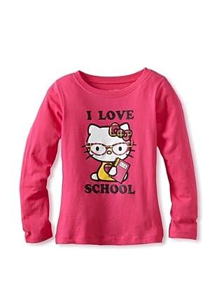 Hello Kitty Girl's 2-6X School Graphic Tee (Fuchsia Purple)