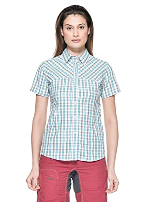 Salewa Camisa Sira Dry Am W (Blanco / Azul Cielo)