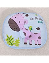 Cute Deer Soft Infant Toddler Baby Pillow Anti Migraine Bedding Head Shape Support Cotton Cushion (Blue)