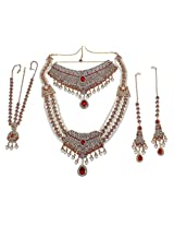 Muchmore Exclusive Ethnic Gold Plated Bridal Necklace Set for Women's Wedding Jewelry