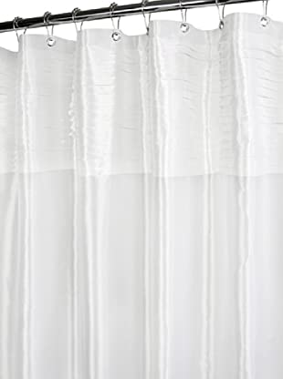 Park B. Smith Tuxedo Pleat Shower Curtain (White)