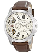 Fossil Analog Off-White Dial Men's Watch - ME1144