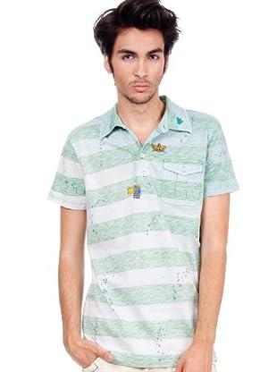 Custo Poloshirt (Grau/Grün)