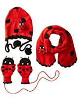 Kidorable Little Girls' Ladybug Hat Scarf Set, Red, Medium