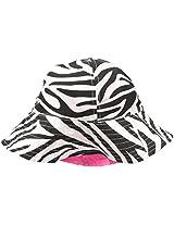 Osh Kosh Baby Girls' Reversible Sun Hat, Zebra, 12 24 Months