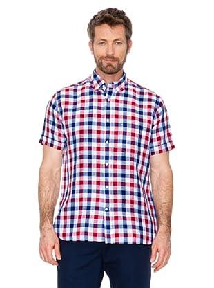Cortefiel Camisa Cuadros (azul / rojo / blanco)