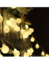 100 LED 33ft/10m Globe String Lights Warm White Ball Fairy Light for Party Christmas Wedding New Year Indoor&outdoor Decoration