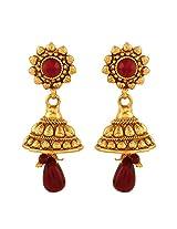 AccessHer Antique Royal Ruby Jhumki Earrings