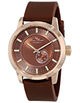 Lucien Piccard Men's LP-12550-RG-04-BR 90th Anniversary Analog Display Japanese Automatic Brown Watch