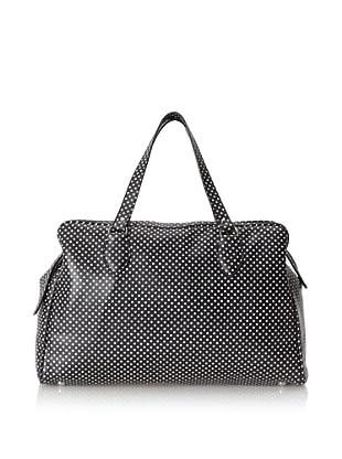 MARNI Women's Dot Printed Handbag, Black/Whit
