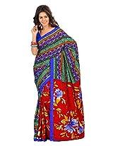 atisundar bewitching Printed Saree in Crepe Jacquard in Multi - 6321_46_6803