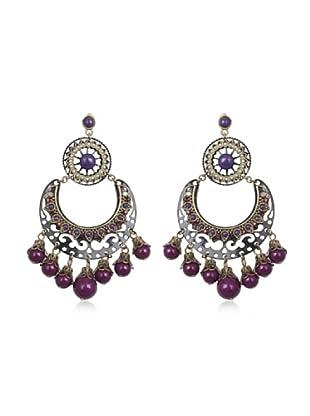 Celebrity Pendientes violeta