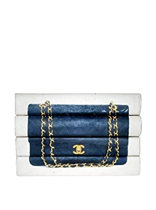 By Its Cover Decorative Reclaimed Books Designer Handbag Series, Quilted 4-Volume Stack