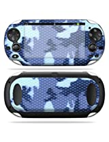 Protective Vinyl Skin Decal Cover for PS Vita PSVITA Playstation Vita Portable Sticker Skins Blue Camo