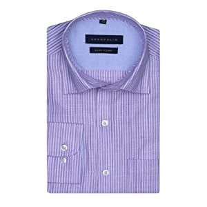 Acropolis-Mens Full Sleeves Slim Fit Formal Stripe Shirt | Size - Small | Item # 7596351