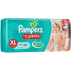 Pampers Pant Diapers Light And Dry Extra Large 48 Pieces (12+ kg)