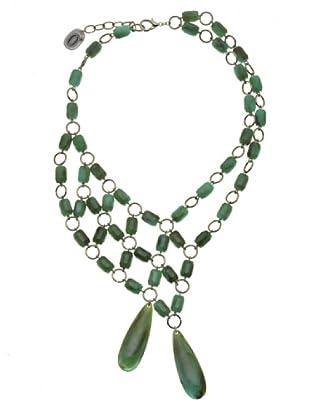Anna Biblò Collana Green 2 Gocce verde