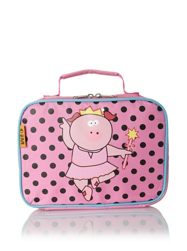 D&N Kids Ballerina Piggy Lunch Bag, Pink