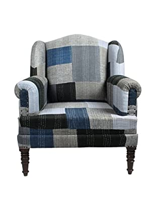 Melange Home Bengali One-of-a-Kind Chair, Mixed Blues