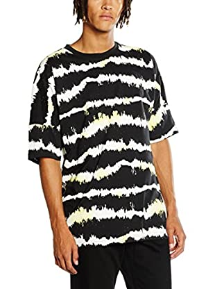 Cheap Monday T-Shirt Manica Corta Crash Tee Nuclear Stripe