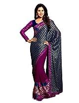 Kalista Fashions Embroidered Saree (6217_Blue Purple)
