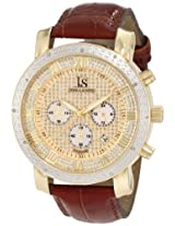 Joshua & Sons Men's JS728YG Diamond Chronograph Strap Watch